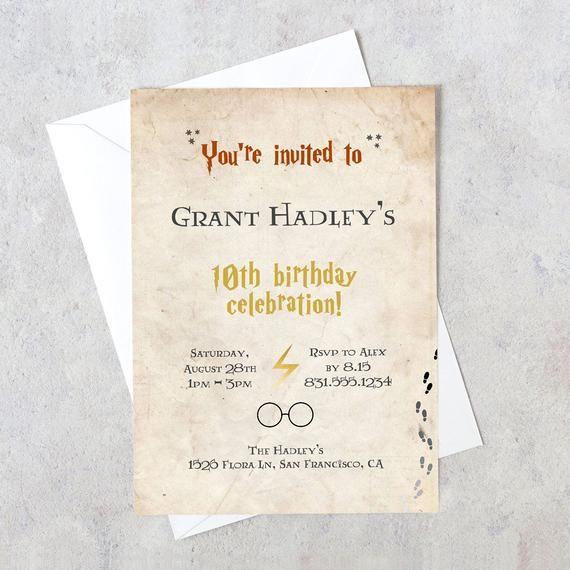 luxury harry potter birthday invitation template and 22 harry potter birthday invitation template download