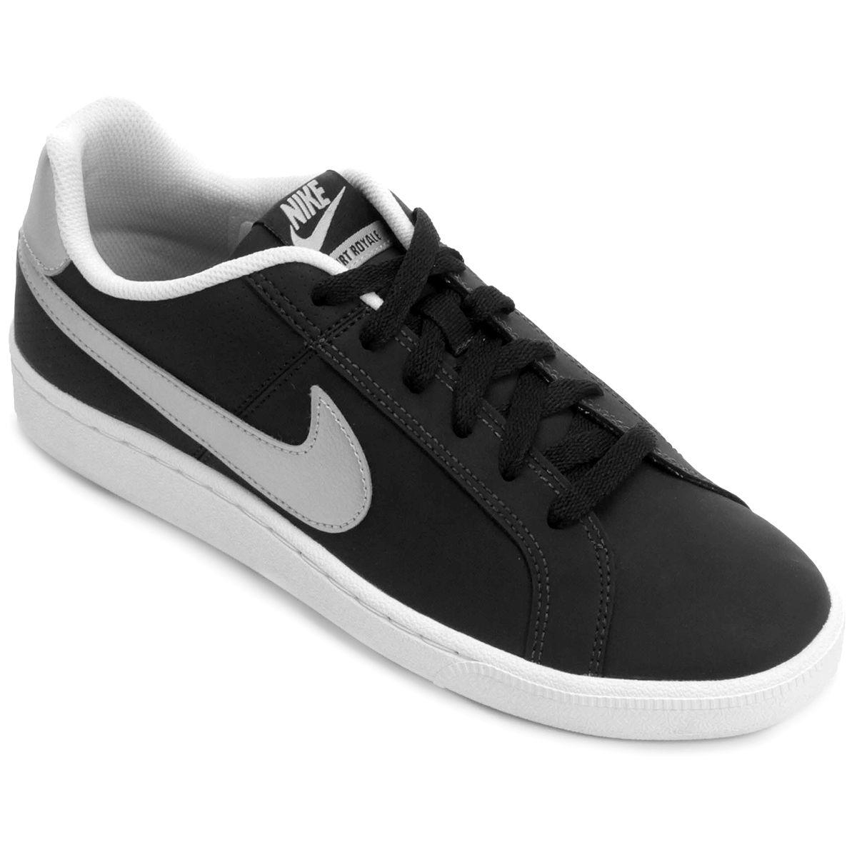 Tênis Nike Nike Court Royale Preto e Prata  3f173603011de