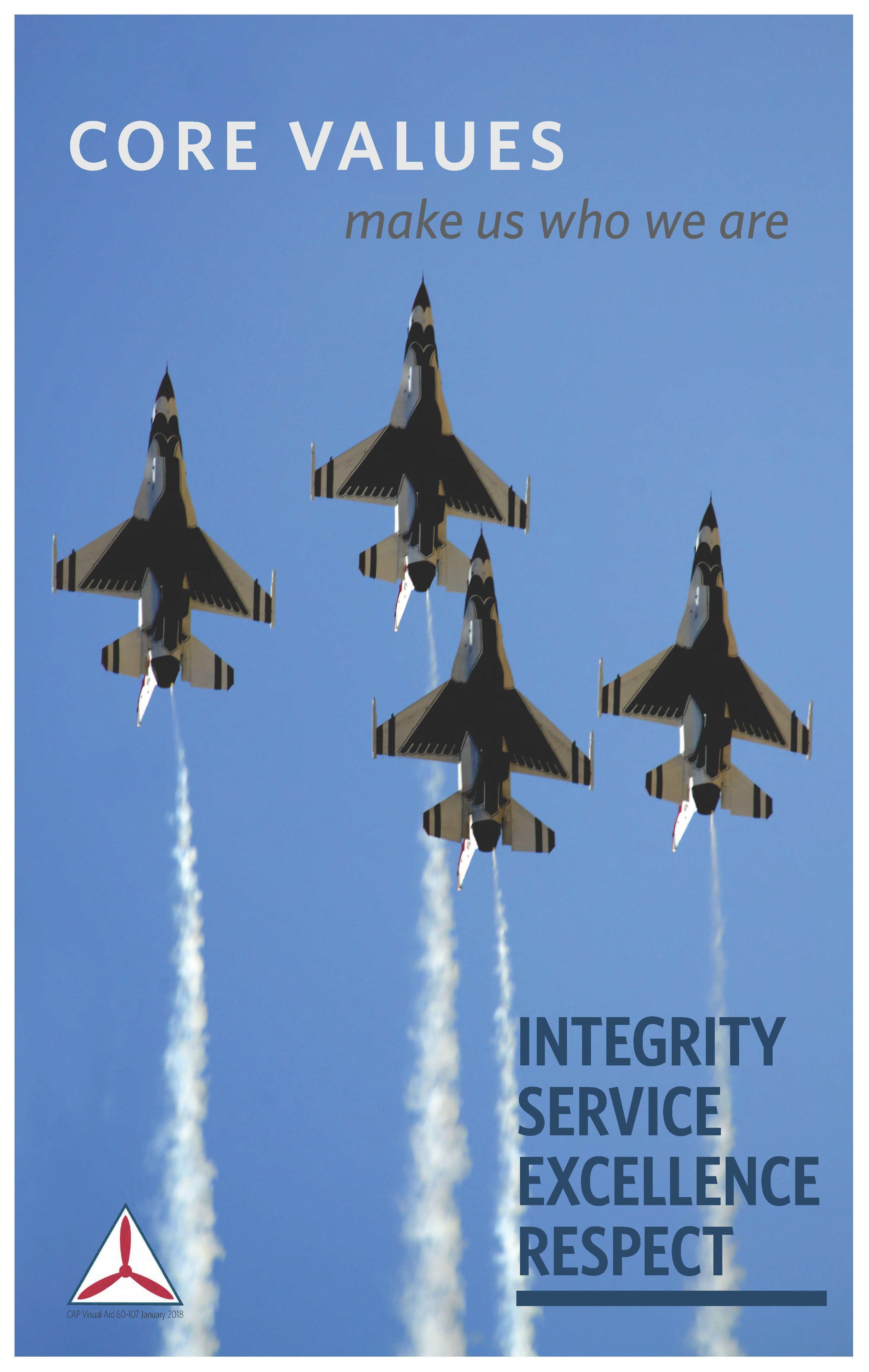 Civil Air Patrol Core Values Civil air patrol, Air, Core