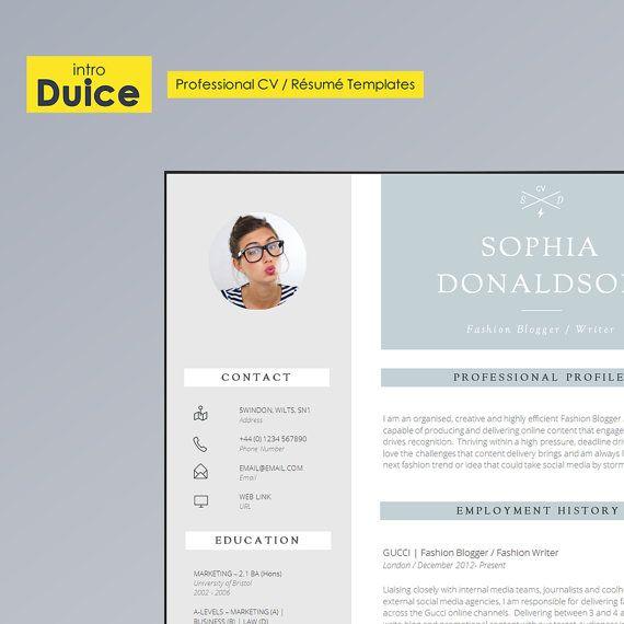 CV Template Resume Template CV Design + Cover Letter + CV - digital journalist resume