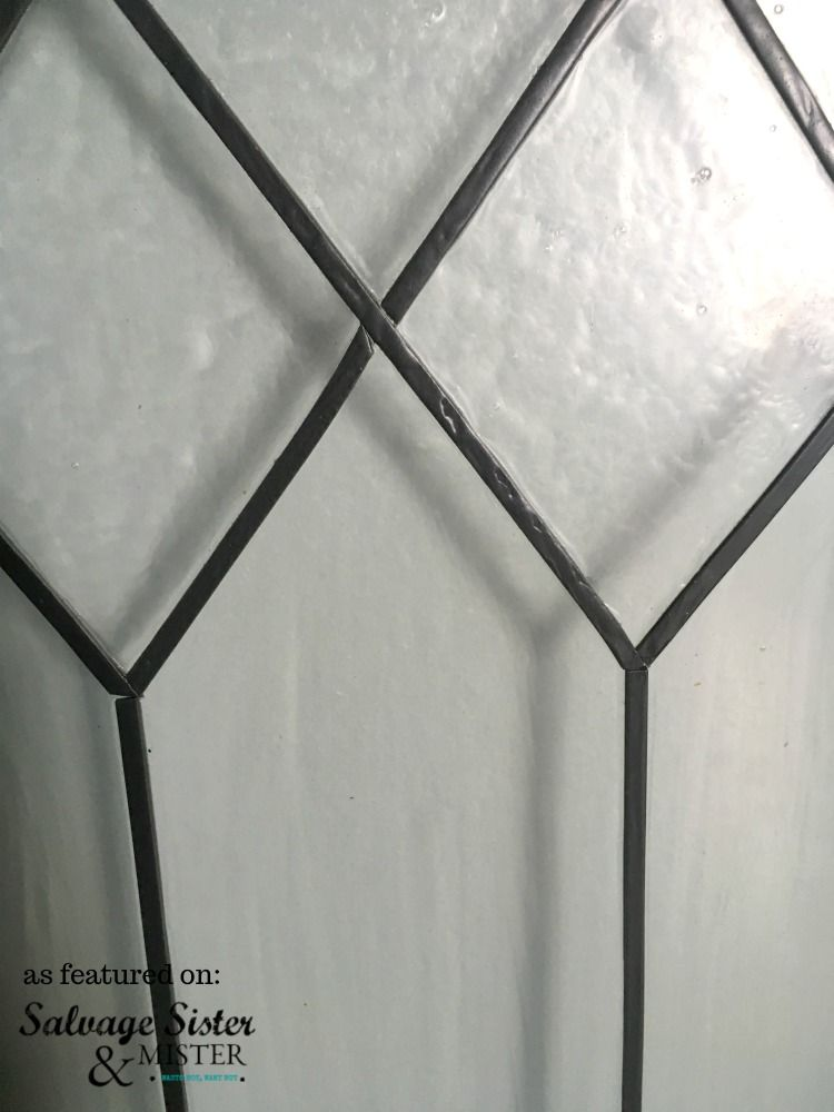 How To Create Faux Leaded Glass Windows Salvage Sister And Mister Glass Windows Diy Faux Window Panes Leaded Glass