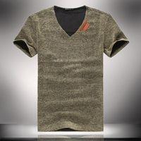 Natural Linen T Shirts for Man Fashion Relaxed Mens Tees Short Sleeve Shirt 2014 Summer New 5xl 4xl