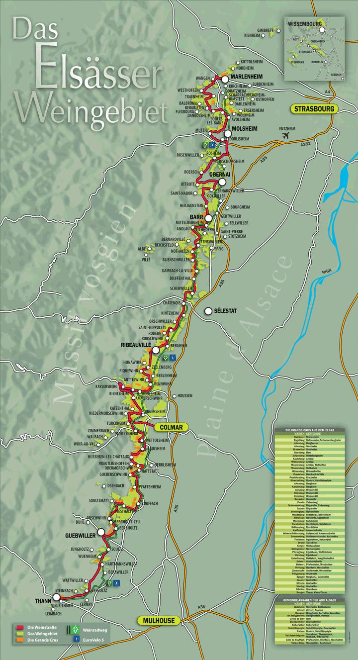 weinstrasse gardasee karte Elsasser Weinstrasse Karte | Elsass, Wohnmobil touren, Reisekarten