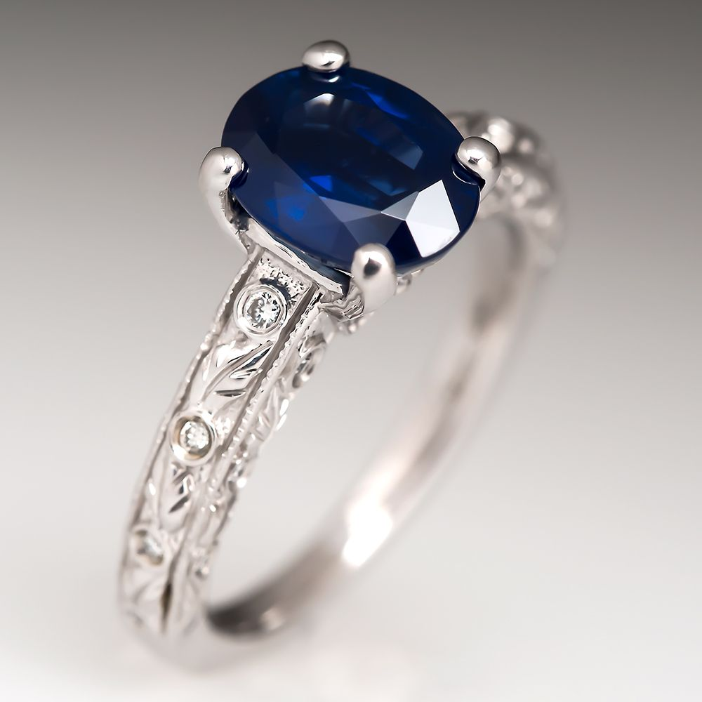 Ritani 2 5 Carat Blue Shire Engagement Ring Beautiful