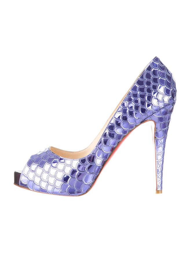 8042a288654 CHRISTIAN LOUBOUTIN PUMPS metallic #purple scale leather $495.00 ...