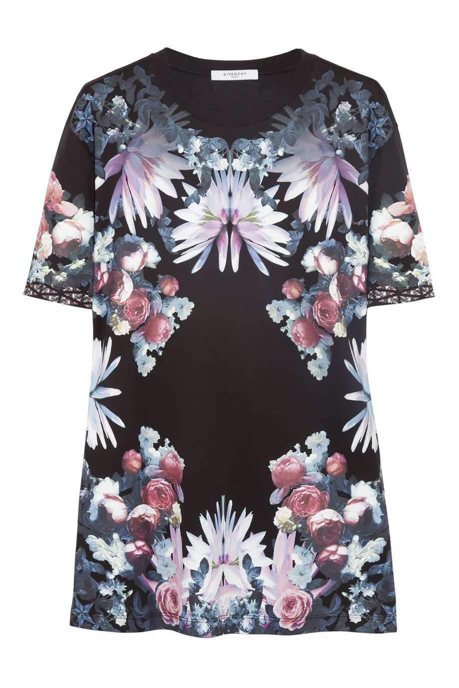 Givenchy|Floral-print cotton-jersey T-shirt