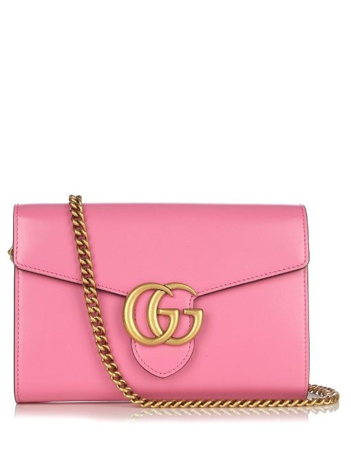 Pink GG Marmont leather backpack - Pink & Purple Gucci lIzTues