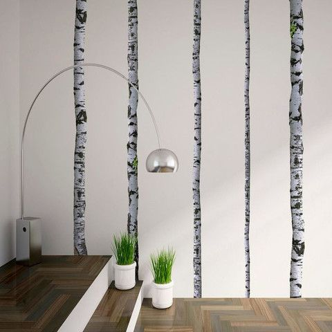 Wall Decals Super Real Birch Trees Birch Wall Mount And Walls - How to put up a tree wall decal