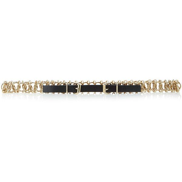 Carven Gold Chain Belt ($390) ❤ liked on Polyvore featuring accessories, belts and chain belt