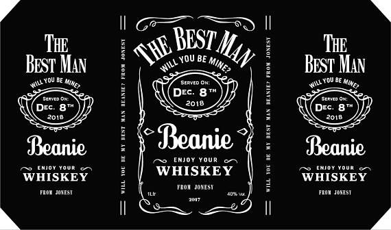 Personalised Jack Daniels Style Whiskey Labels Personalized Labels Liquor Bottle Labels Custom Whiskey Label