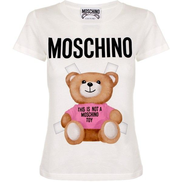 Moschino This Is Not A Toy Bear T-Shirt ( 200) ❤ liked on Polyvore  featuring tops b0dd333d6c2