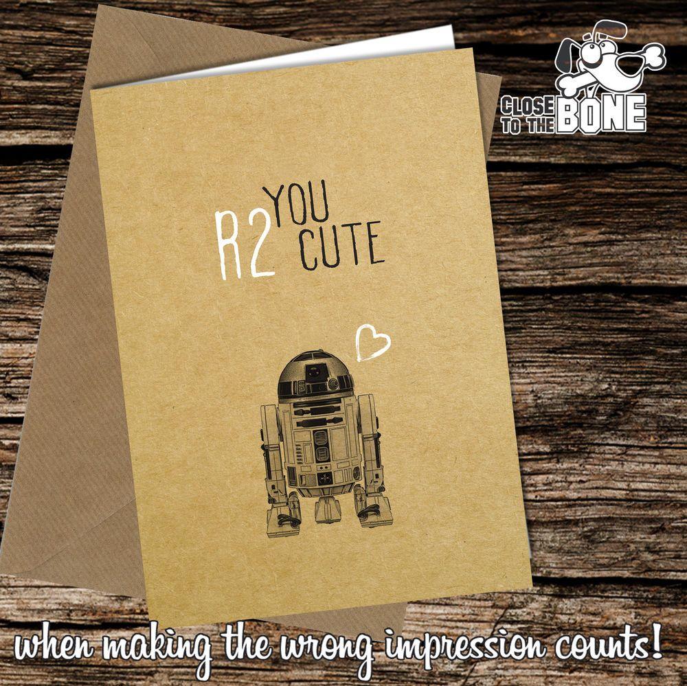 Greetings Card / Comedy / Rude / Funny / Humour / Birthday Card / R2d2 #173 | eBay