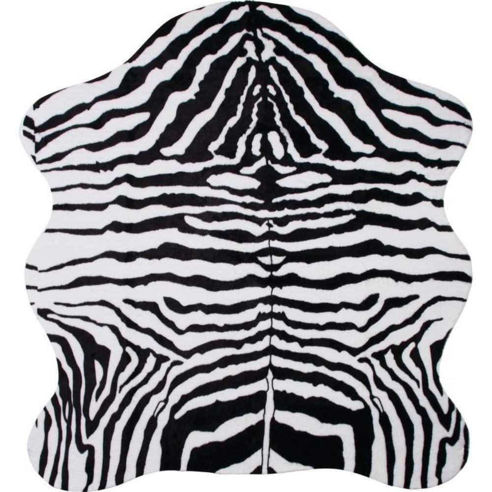 Classic Safari HHRUGZ 56 in. X 61 in. Zebra Print Rug (NEW) #ClassicSafari