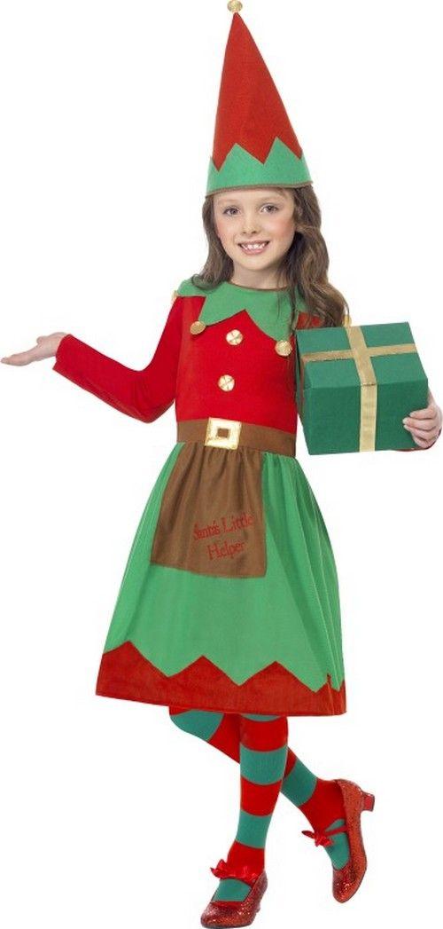 disfraz elfo nia de navidad disponible en