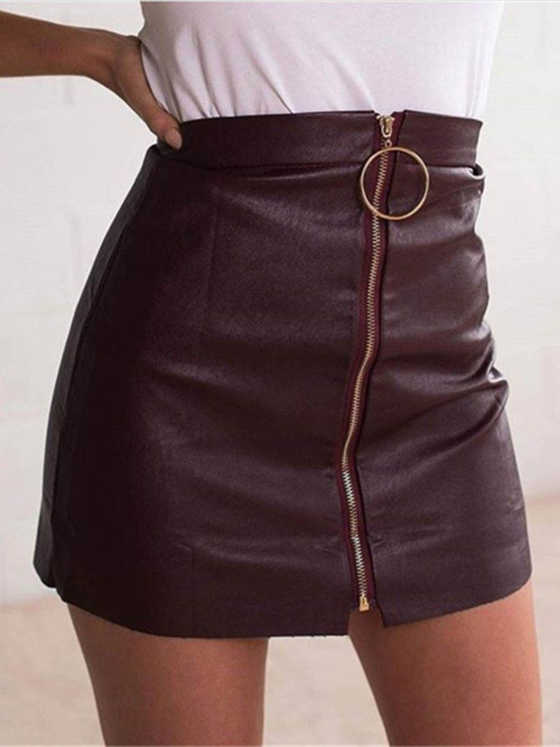ffd40970a Patchwork Mini Skirt Bodycon Mid Waist Skirt Black Leather Pencil Skirt,  Mini Pencil Skirt,
