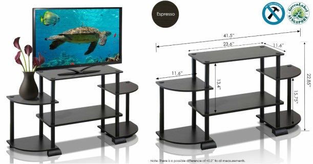 Furinno Rounded Corner TV Stand ONLY $7.22 At Walmart!