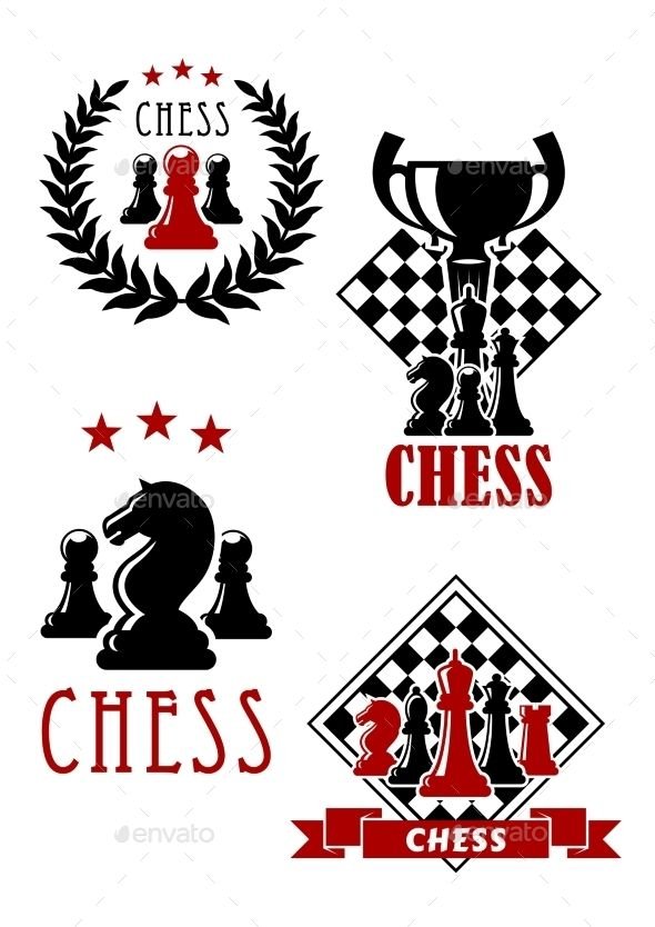 6abcd1c8 Chess Game Icons And Emblems | Sport Vector | Chess, Game icon, Games