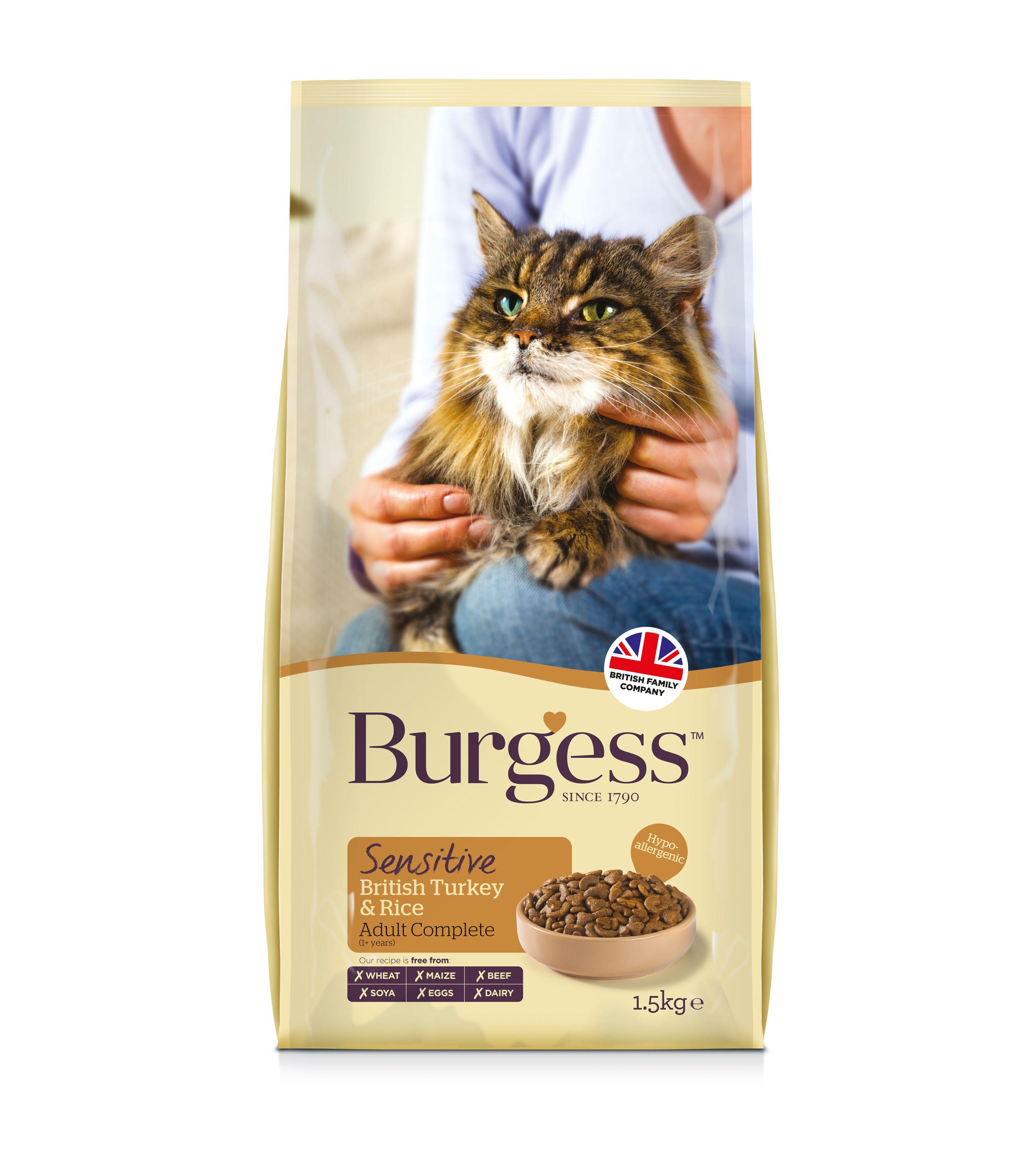 Burgess Sensitive Cat Turkey & Rice (With images) Cat