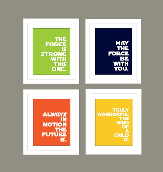 Star Wars Quotes For Nursery Boys Nursery The Force Is Strong With
