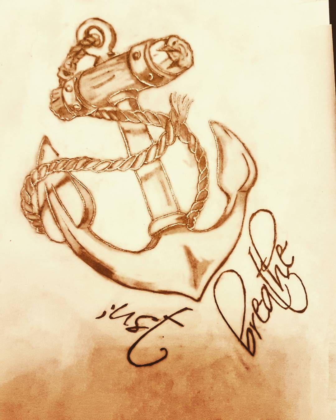 Anker bleistiftzeichnung  anker #anchor #blackandgrey #bleistiftzeichnung #zeichnen ...