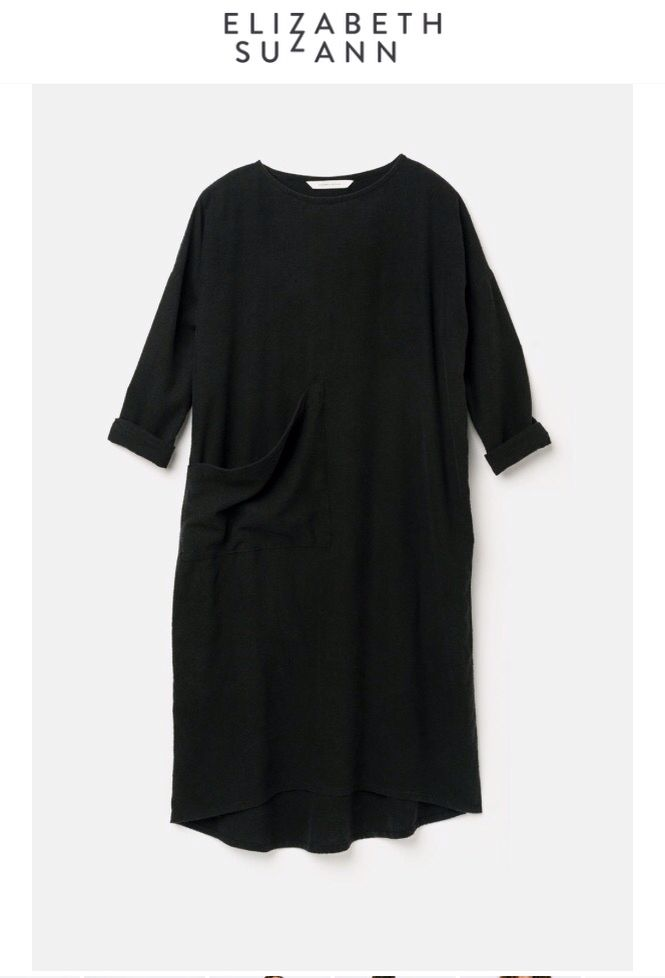 Long Sleeve Harper Dress in Raw Silk Broadcloth
