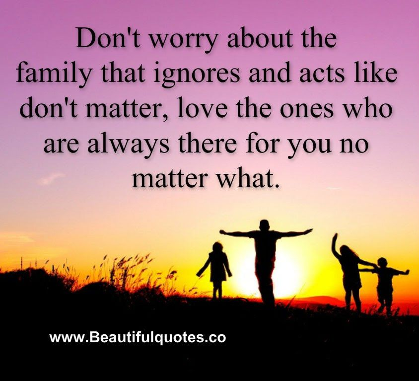 Beautiful Quotes Don T Worry About The Family That Ignores You Ignore Me Quotes Mean Family Quotes Mean People Quotes