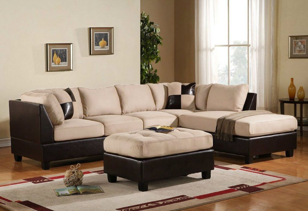 Outstanding Italian Style 3 Piece Microfiber Faux Leather Sectional Sofa Unemploymentrelief Wooden Chair Designs For Living Room Unemploymentrelieforg