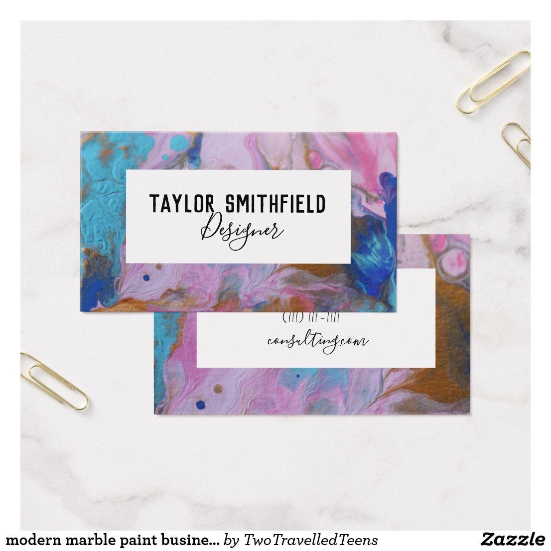 modern marble paint business card design | Business Card Templates ...
