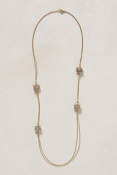 Pave Layering Necklace #anthropologie - A beautiful, festive necklace that's fitting for holiday soirees and a perfect gift for sisters and best friends.