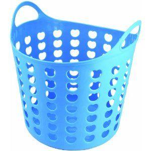 Elliotts Funky Cleaning Plastic Laundry Basket Blue Amazon Co Uk