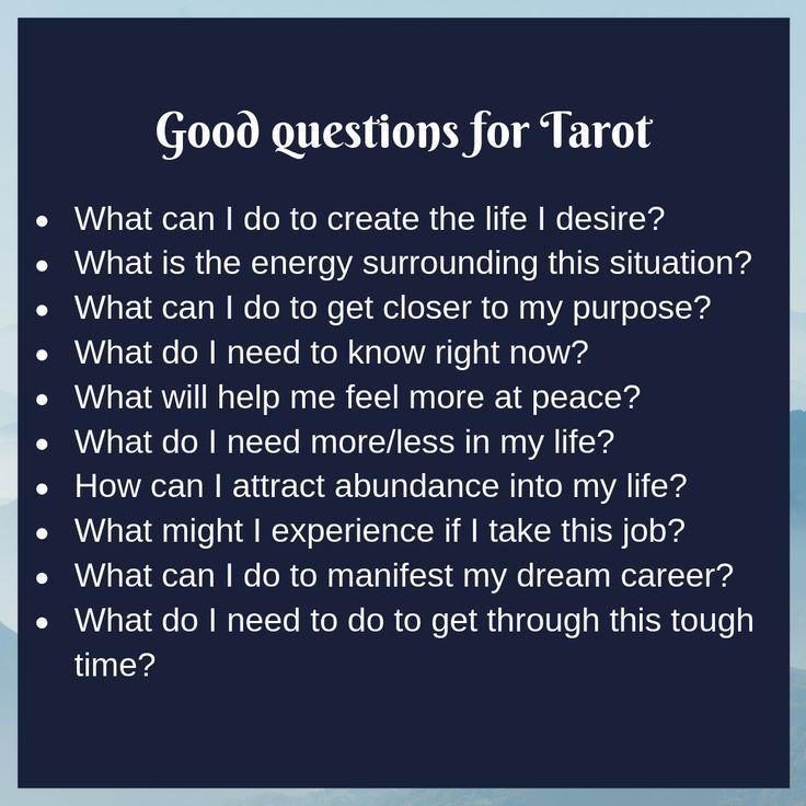 Good questions for tarot reading tarot cards tarot tips