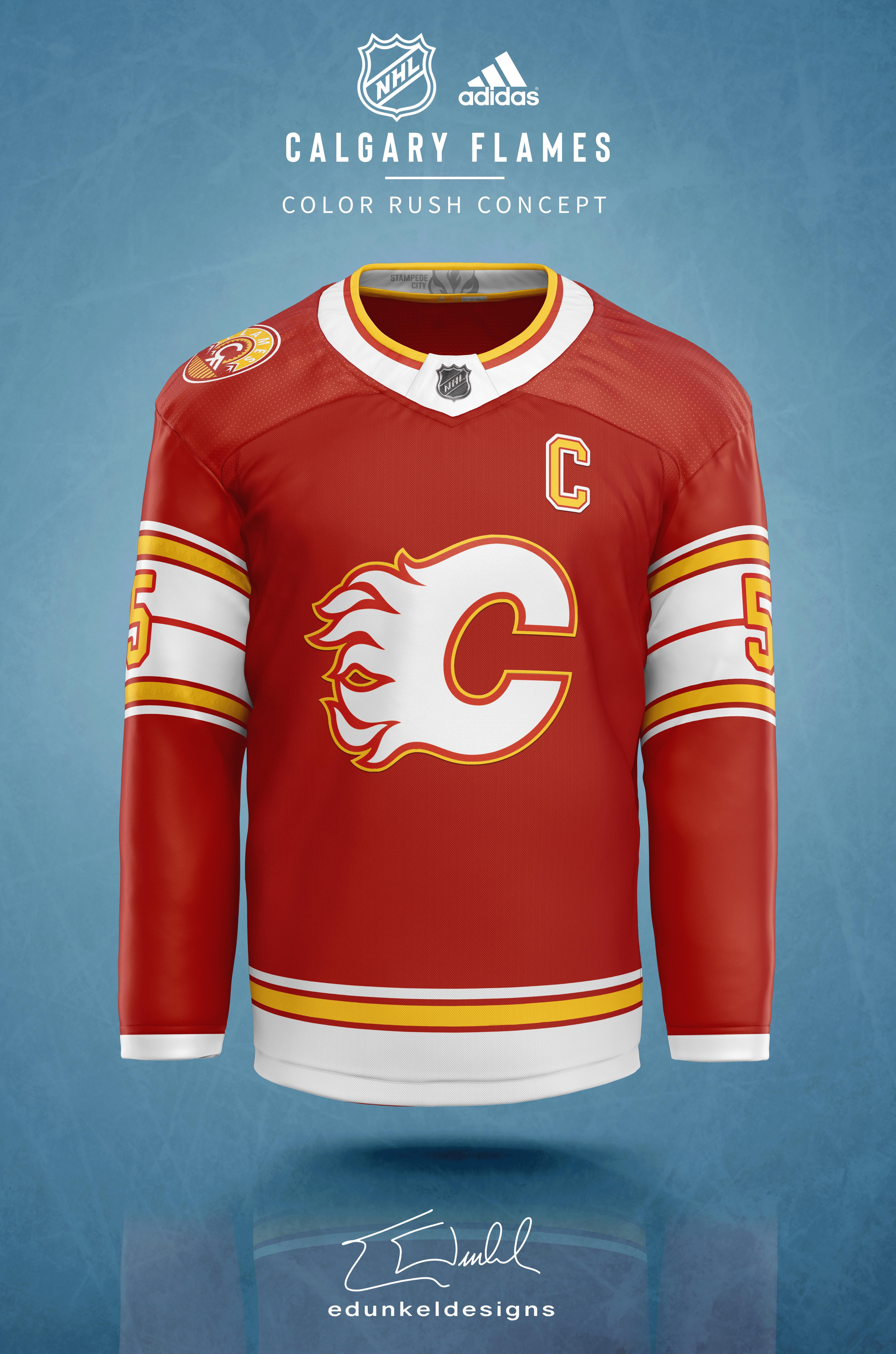 Hockey fans will love these NHL colour rush jersey