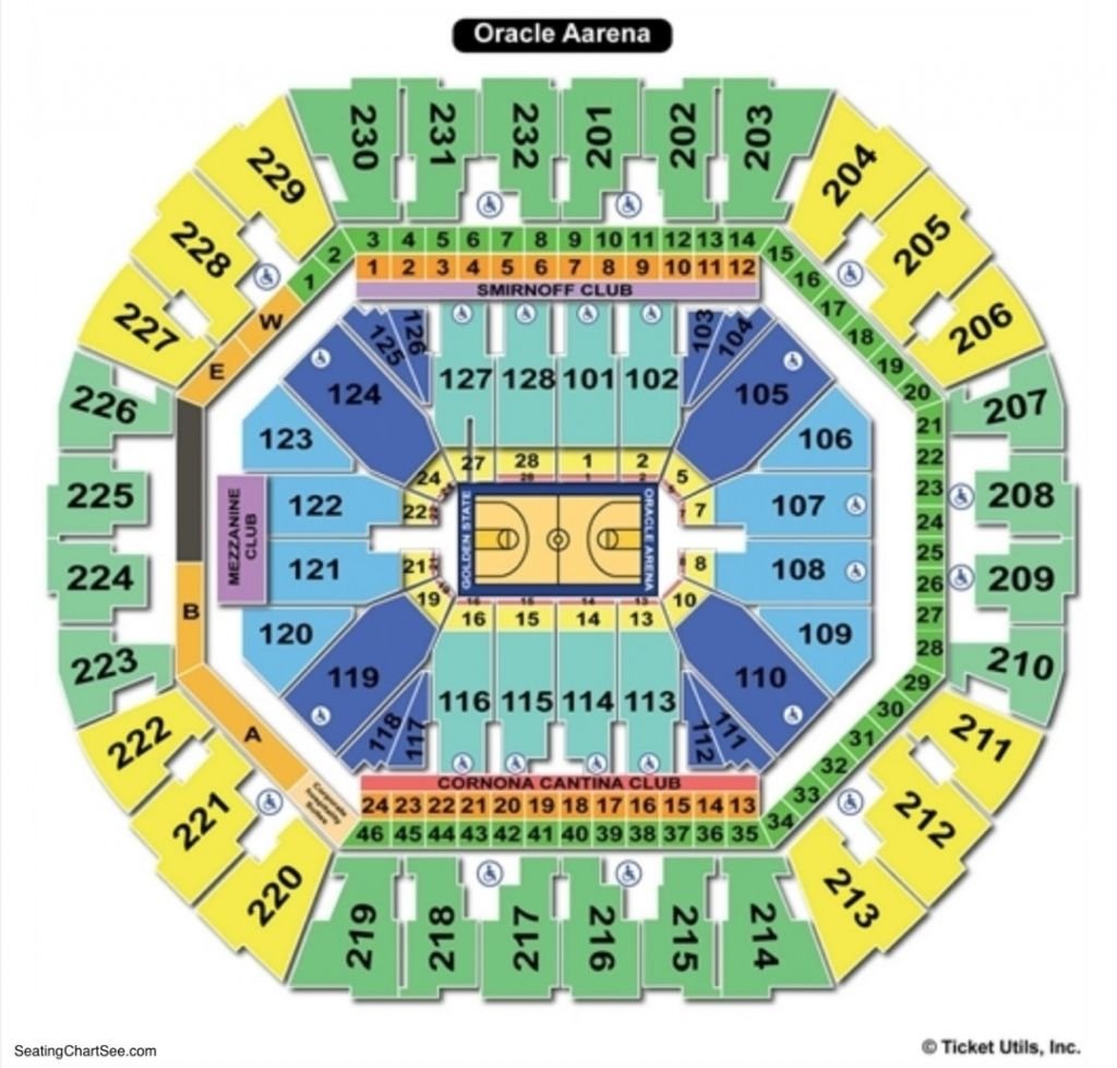 Oracle Arena Seating Chart In 2020 Seating Charts Chart Game Arena