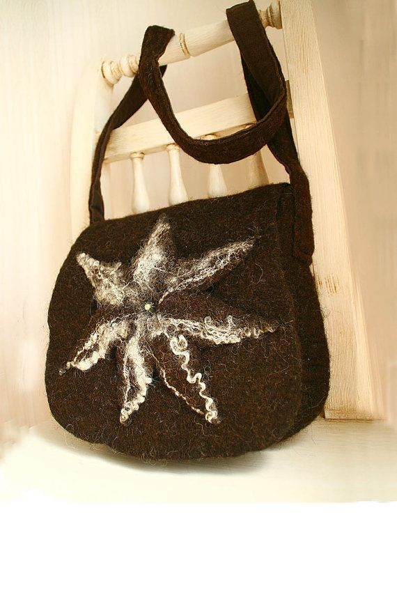 Felted bag OOAK Felted Hip bag felted Bag with by FeltStream, $39.00