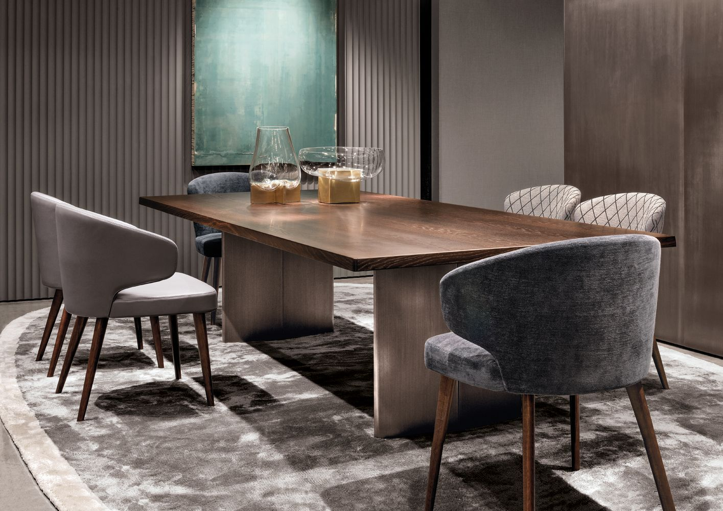 32 Stylish Dining Room Ideas To Impress Your Dinner Guests: Minotti Ipad - CHAIRS - EN