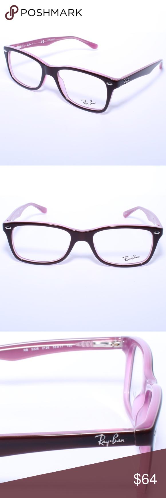 62b1a5dbde RayBan RB5228 2126 Eggplant Pink Eyeglasses RayBan RB5228 2126  Eggplant Pink Eyeglasses 53 17mm Comes with Generic Case