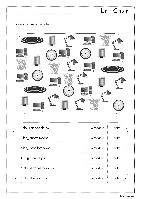House Objects In Spanish La Casa Worksheets Graphing Worksheets Printable Worksheets Worksheets [ 2716 x 1920 Pixel ]