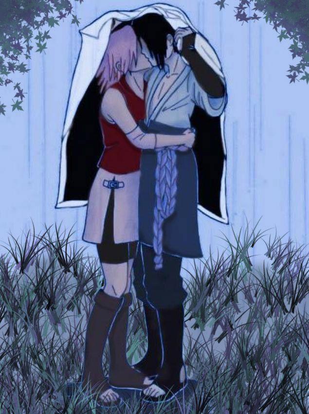 Sasuke Sakura Rainy Kiss By Supremedarkqueen On Deviantart Sakura And Sasuke Sasuke Uchiha Sakura Haruno Sakura And Sasuke Kiss