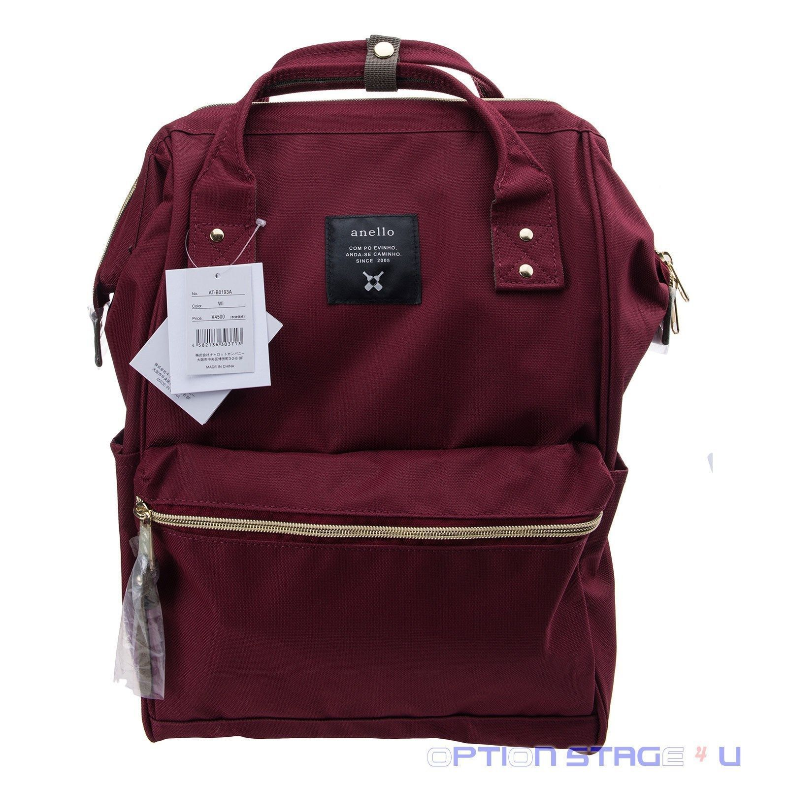 Anello Official Rudy Red Japan Unisex Fashion Backpack Rucksack Diaper Bag 3aa9a72088149