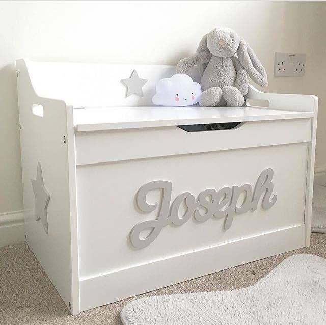 S Boys Wooden Personalised Children Toy Box Storage Chest Nursery Home Furniture Diy Ebay