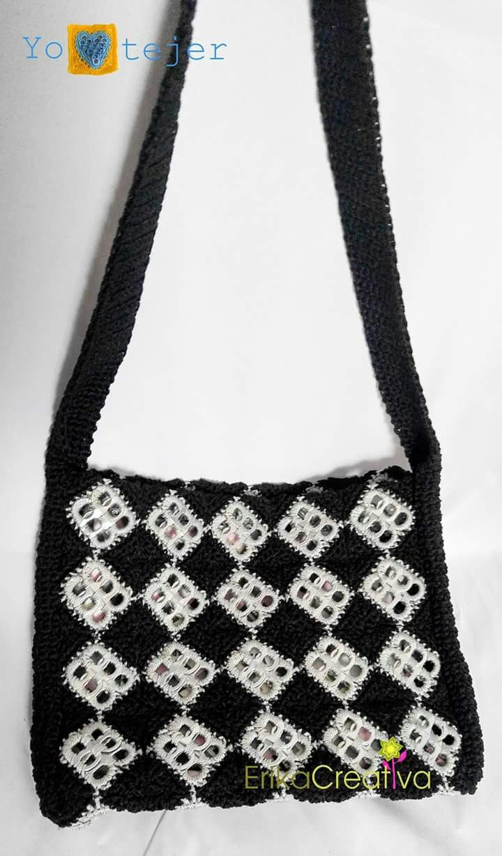 Pin de Aurora Ramos Gomez en tejidos | Pinterest | Bolsa de anillas ...