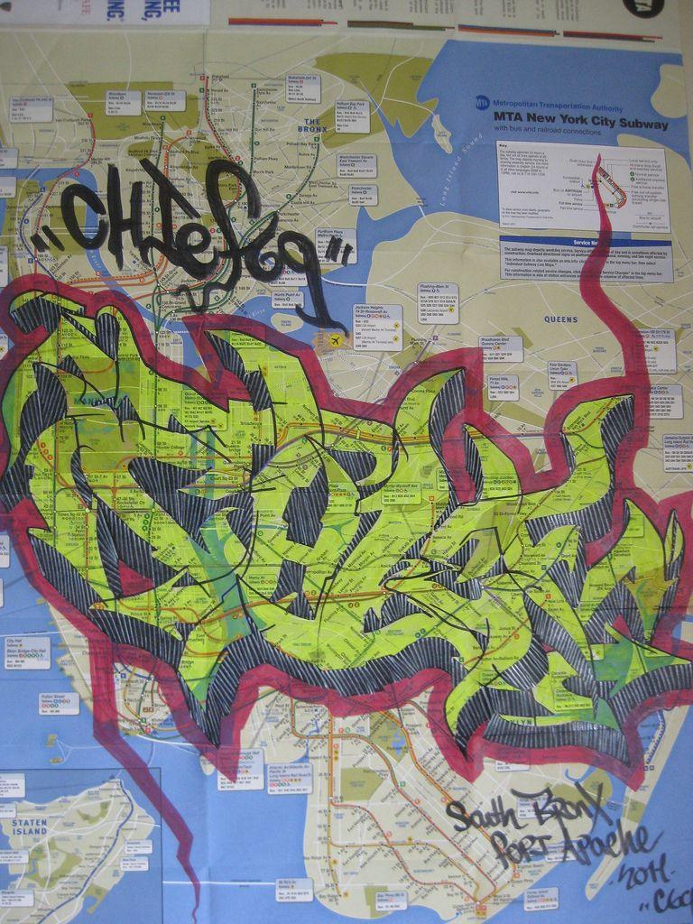 Nyc Subway Map 2011.Chief69 Mta Subway Map 2011 Wildstyle Nyc Subway Wildstyle
