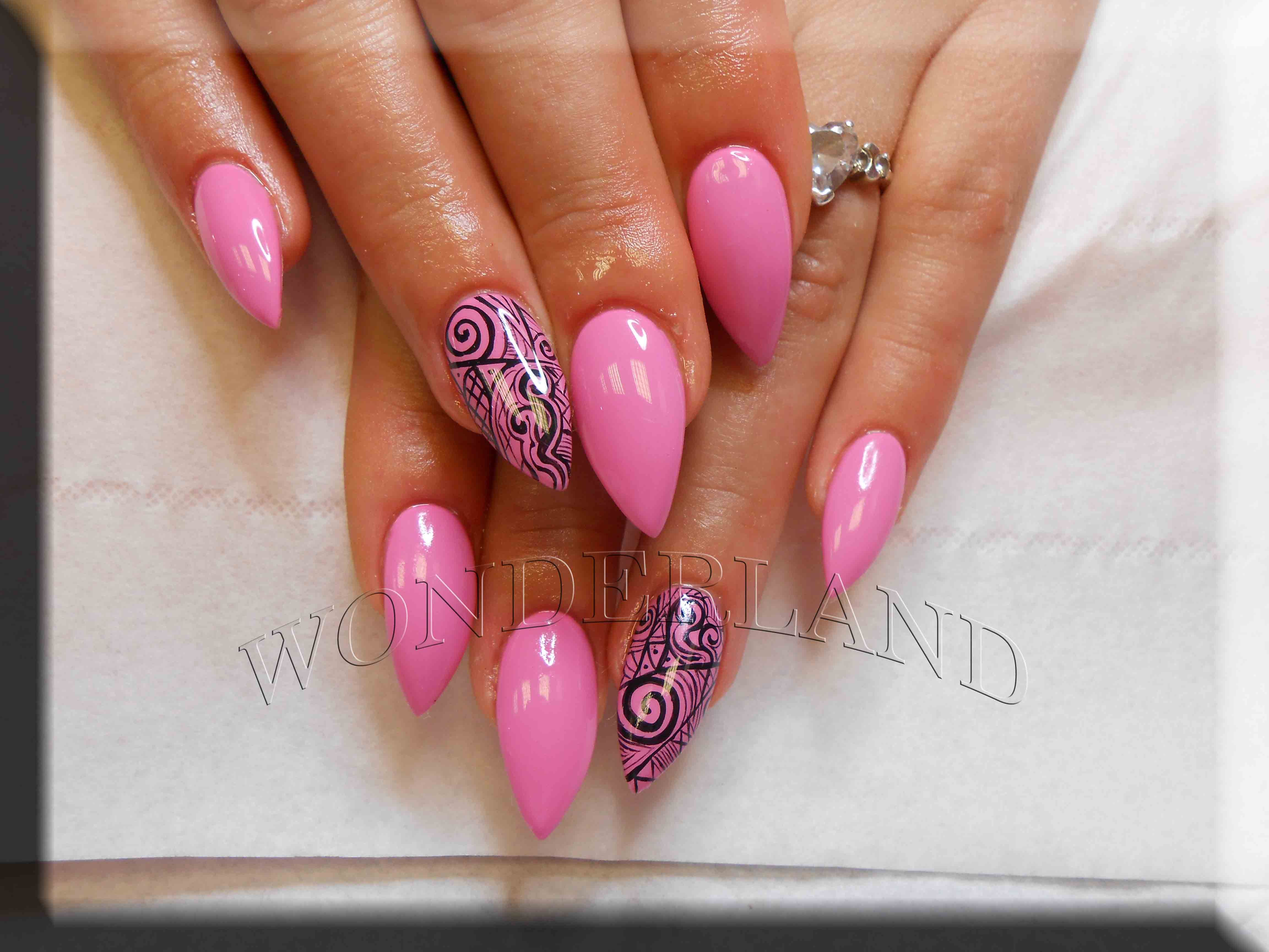 ombre gel nails, wonderland cardiff, nail extensions, acrylic nails ...