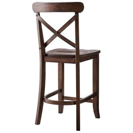 Cool Harvester X Back 24 Counter Stool Hardwood Espresso Creativecarmelina Interior Chair Design Creativecarmelinacom