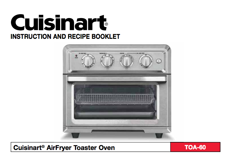 Air Fryer Toaster Oven Toa 60 Product Manual Toaster Oven Toaster Oven