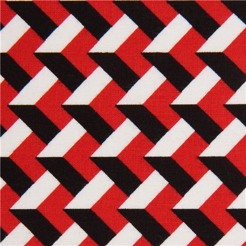 red-white-black 3D pattern fabric with by Robert Kaufman USA ...