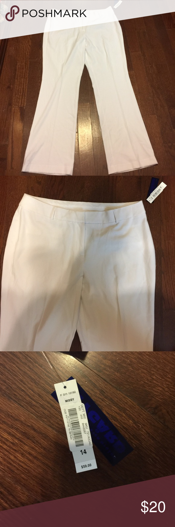 Peter Nygard white trousers Trousers peter Nygard Pants Trousers