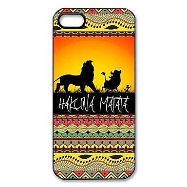 Hakuna Matata en el patrón de la puesta del sol del Rey León de plástico duro caso para iPhone 5/5S