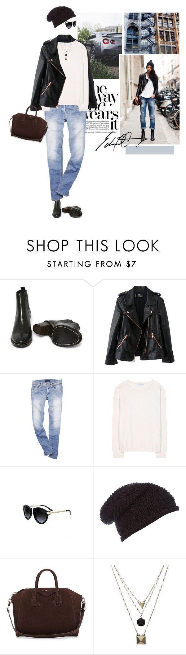 """ROCK the Beanie"" by erino9519 ❤ liked on Polyvore featuring Opening Ceremony, Rosegold, Closed, Label Lab, Givenchy and Gathering Eye"