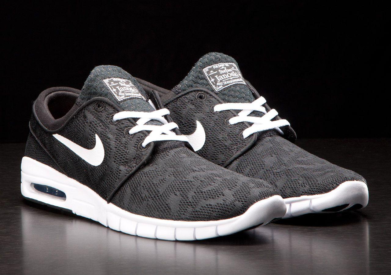 Nike SB Stefan Janoski Max 'Black/White' | SNEAKERS ADDICT